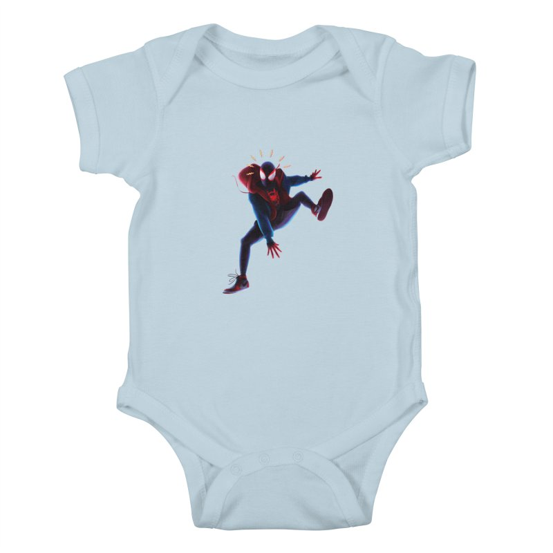 Miles into the Spider-Verse Kids Baby Bodysuit by Laurie's Artist Shop