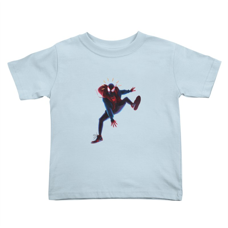 Miles into the Spider-Verse Kids Toddler T-Shirt by Laurie's Artist Shop