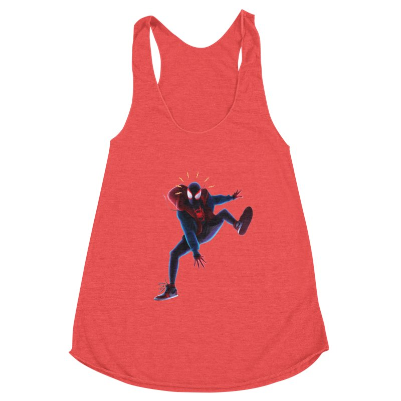 Miles into the Spider-Verse Women's Tank by Laurie's Artist Shop