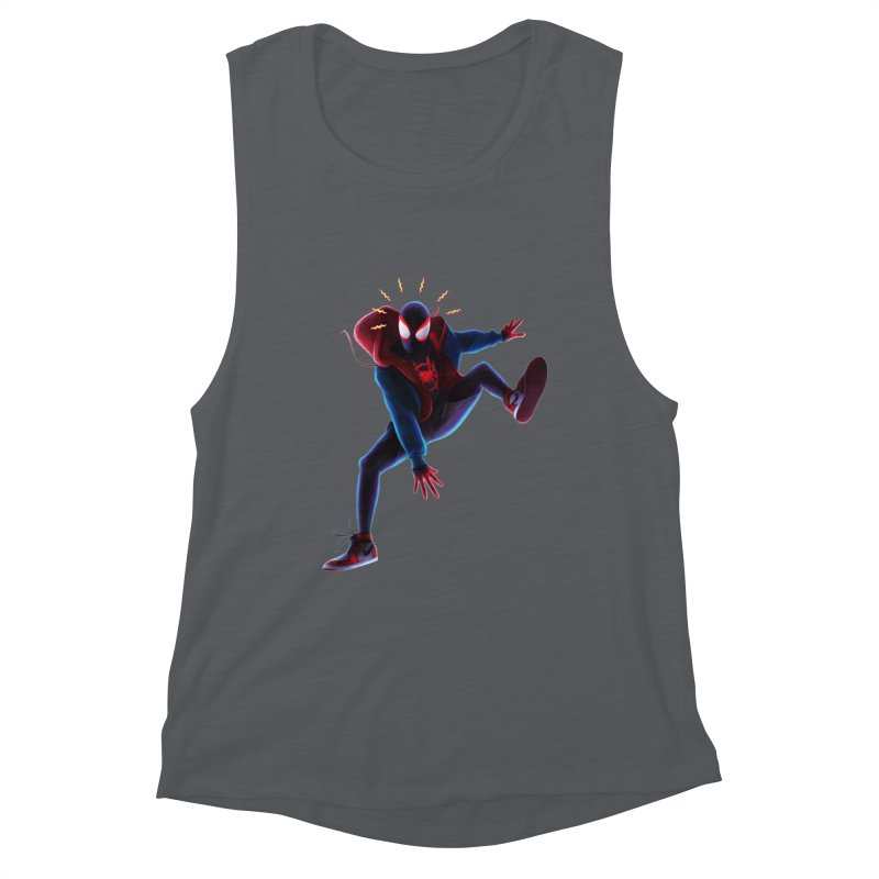 Miles into the Spider-Verse Women's Muscle Tank by Laurie's Artist Shop