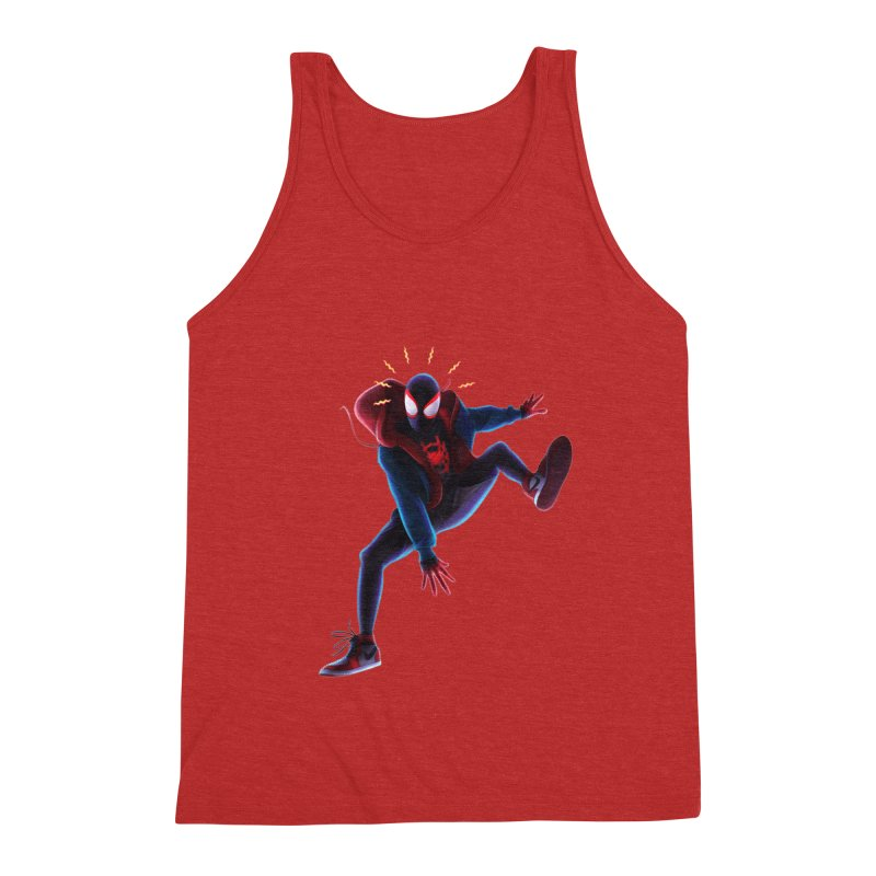 Miles into the Spider-Verse Men's Triblend Tank by Laurie's Artist Shop