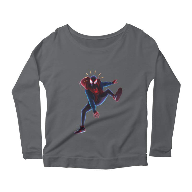 Miles into the Spider-Verse Women's Scoop Neck Longsleeve T-Shirt by Laurie's Artist Shop