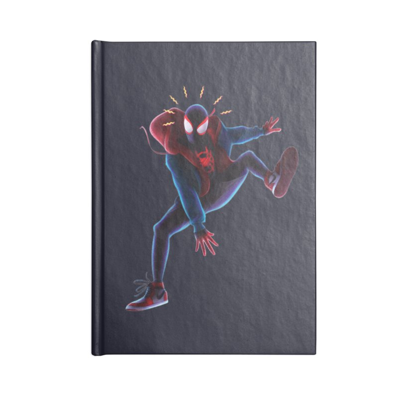 Miles into the Spider-Verse Accessories Lined Journal Notebook by Laurie's Artist Shop