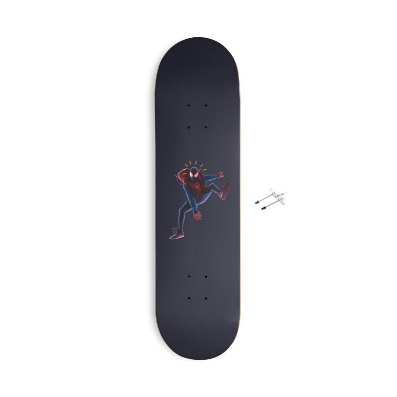 Miles into the Spider-Verse Accessories With Hanging Hardware Skateboard by Laurie's Artist Shop