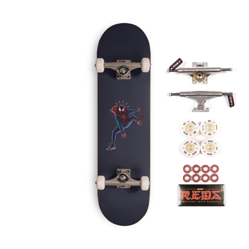 Miles into the Spider-Verse Accessories Complete - Pro Skateboard by Laurie's Artist Shop