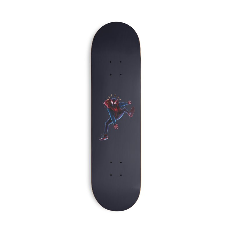 Miles into the Spider-Verse Accessories Deck Only Skateboard by Laurie's Artist Shop