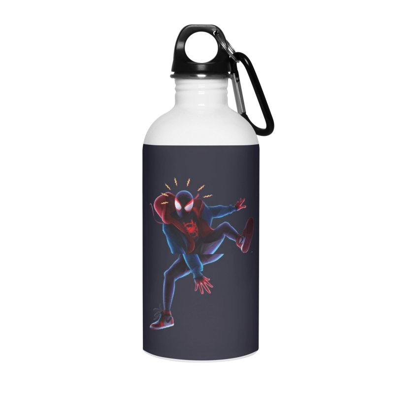 Miles into the Spider-Verse Accessories Water Bottle by Laurie's Artist Shop