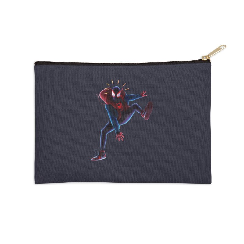 Miles into the Spider-Verse Accessories Zip Pouch by Laurie's Artist Shop