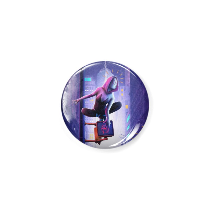Gwen into the Spider-Verse Accessories Button by Laurie's Artist Shop