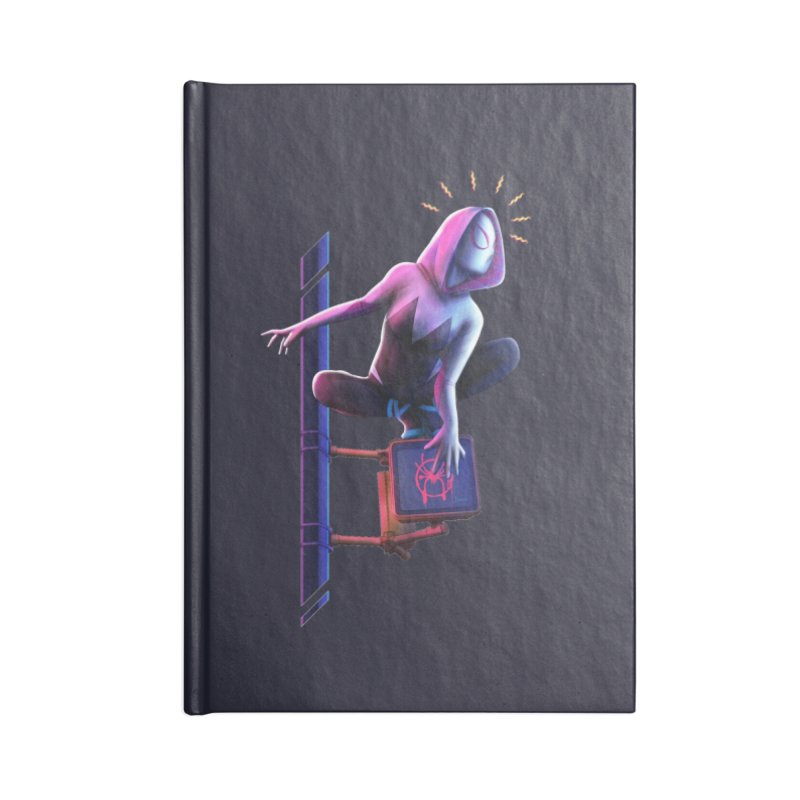 Gwen into the Spider-Verse Accessories Blank Journal Notebook by Laurie's Artist Shop