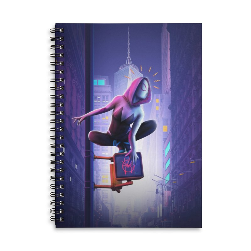 Gwen into the Spider-Verse Accessories Lined Spiral Notebook by Laurie's Artist Shop