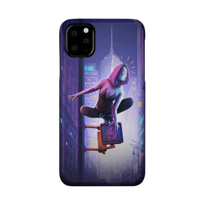 Gwen into the Spider-Verse Accessories Phone Case by Laurie's Artist Shop