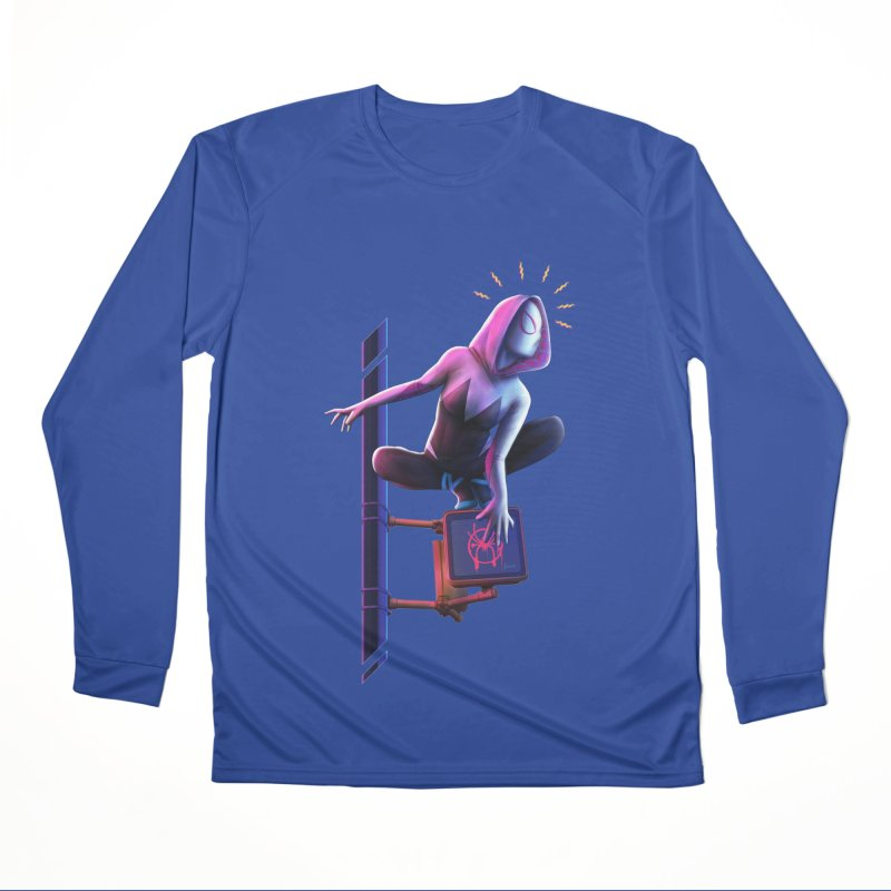 Gwen into the Spider-Verse Men's Performance Longsleeve T-Shirt by Laurie's Artist Shop