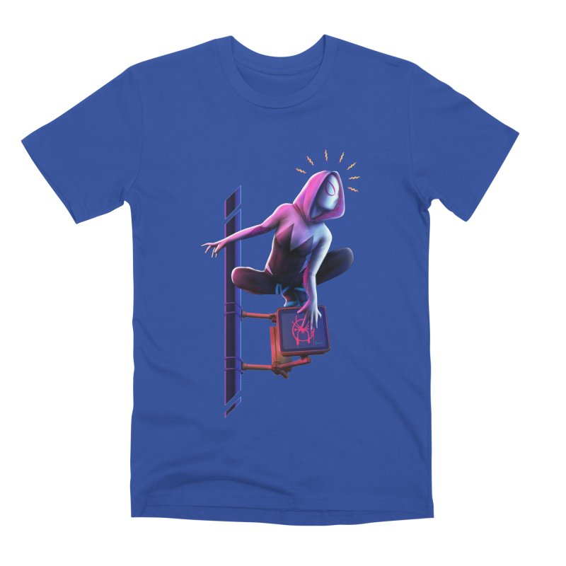Gwen into the Spider-Verse Men's T-Shirt by Laurie's Artist Shop