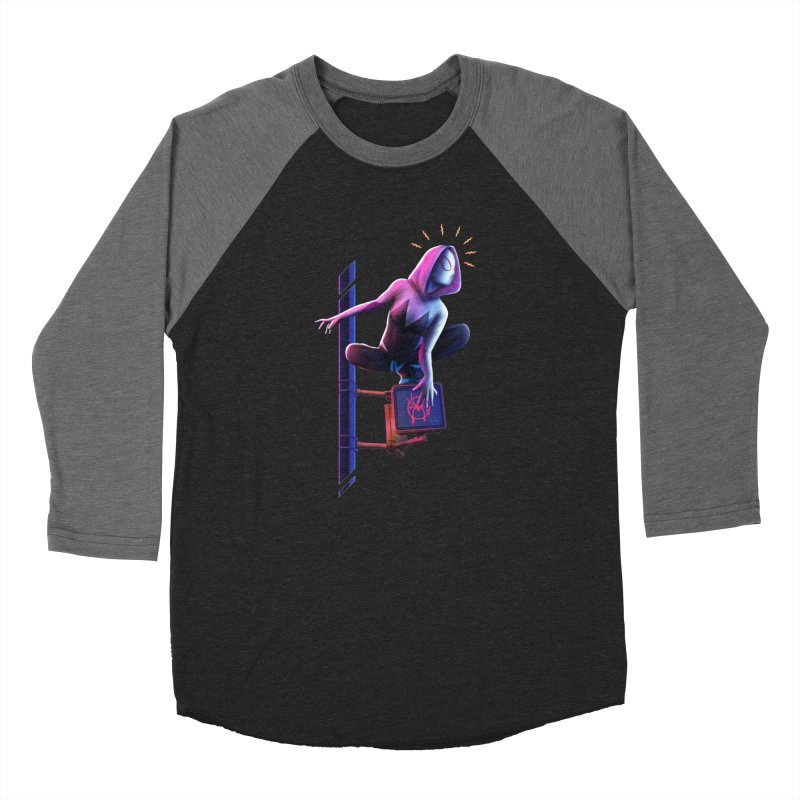 Gwen into the Spider-Verse Women's Longsleeve T-Shirt by Laurie's Artist Shop