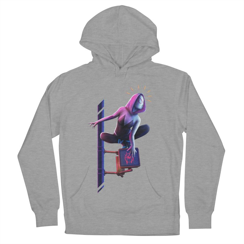 Gwen into the Spider-Verse Women's French Terry Pullover Hoody by Laurie's Artist Shop