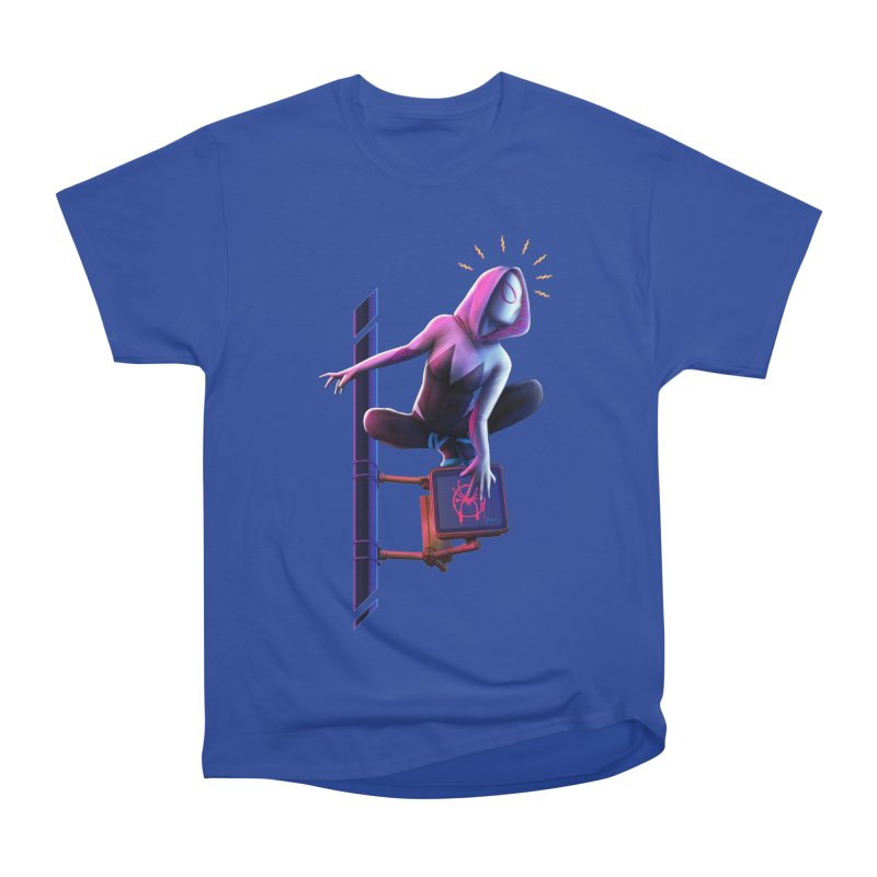 Gwen into the Spider-Verse Men's Heavyweight T-Shirt by Laurie's Artist Shop