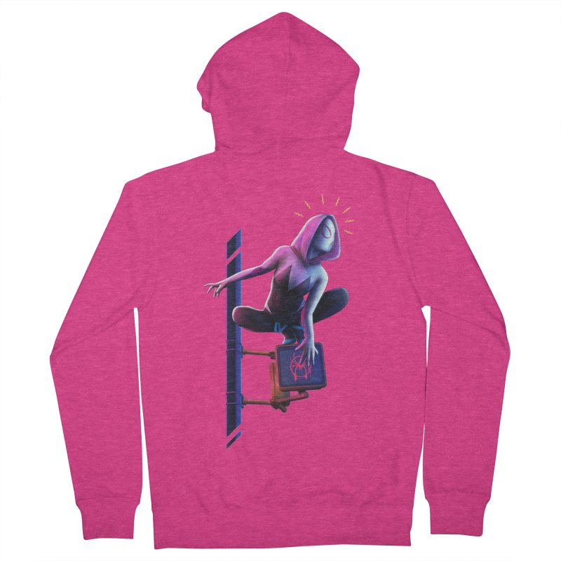 Gwen into the Spider-Verse Women's French Terry Zip-Up Hoody by Laurie's Artist Shop