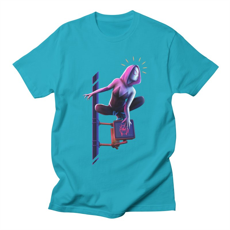 Gwen into the Spider-Verse Men's Regular T-Shirt by Laurie's Artist Shop