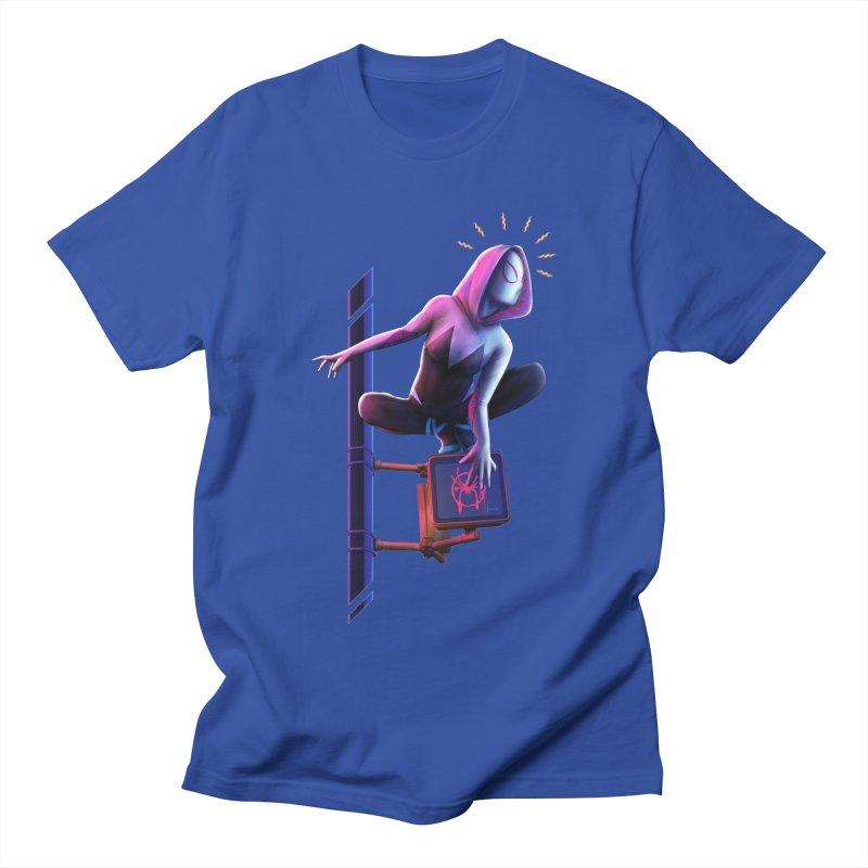 Gwen into the Spider-Verse Women's Regular Unisex T-Shirt by Laurie's Artist Shop