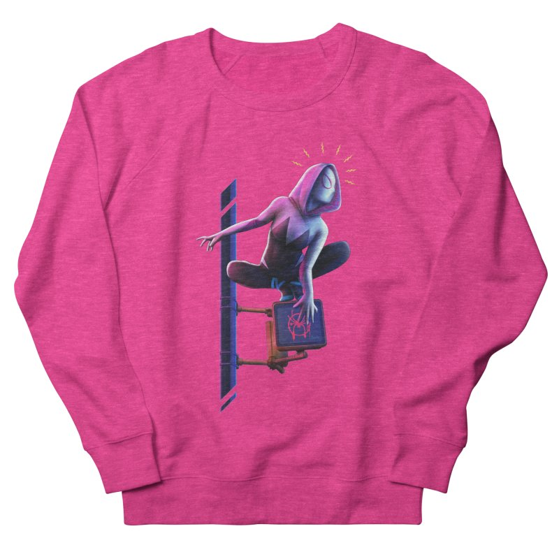 Gwen into the Spider-Verse Women's French Terry Sweatshirt by Laurie's Artist Shop