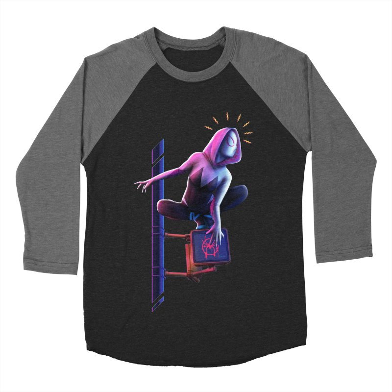 Gwen into the Spider-Verse Women's Baseball Triblend Longsleeve T-Shirt by Laurie's Artist Shop