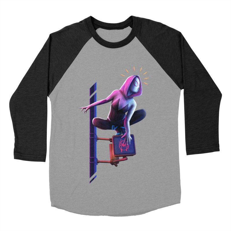 Gwen into the Spider-Verse Women's Baseball Triblend Longsleeve T-Shirt by Laurie's Artist Shop