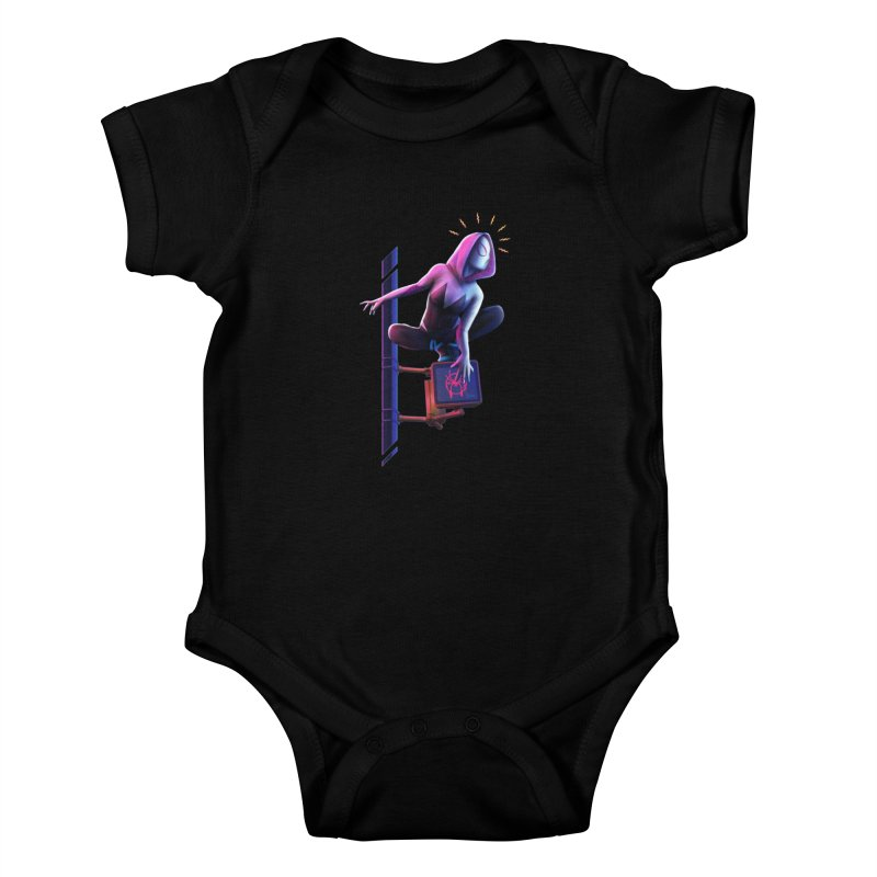 Gwen into the Spider-Verse Kids Baby Bodysuit by Laurie's Artist Shop