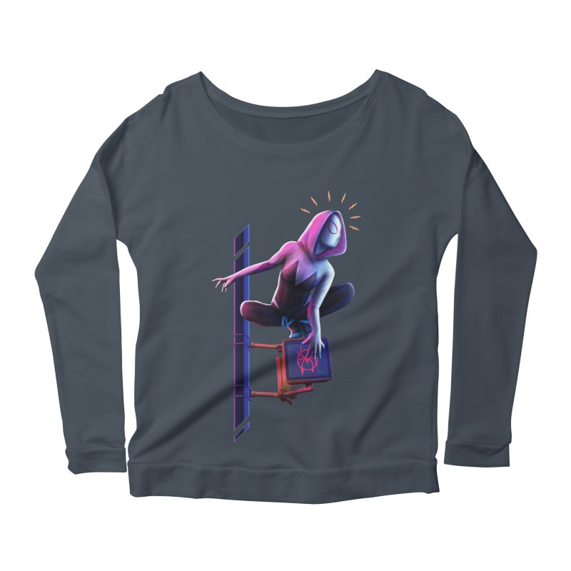 Gwen into the Spider-Verse Women's Scoop Neck Longsleeve T-Shirt by Laurie's Artist Shop
