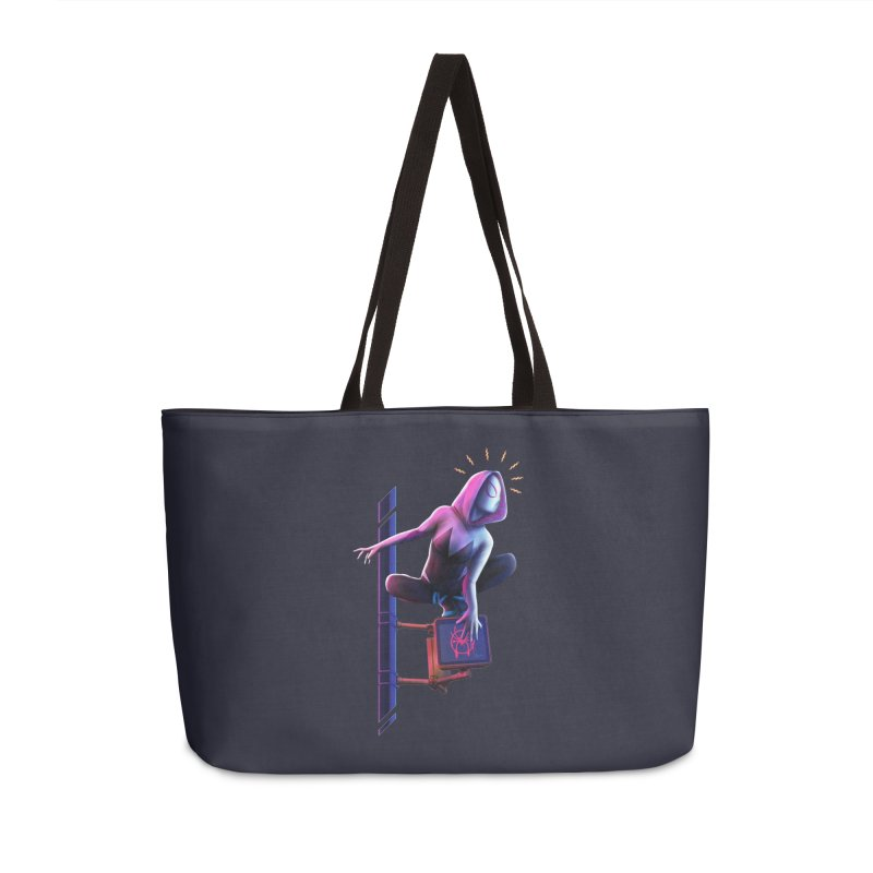 Gwen into the Spider-Verse Accessories Weekender Bag Bag by Laurie's Artist Shop