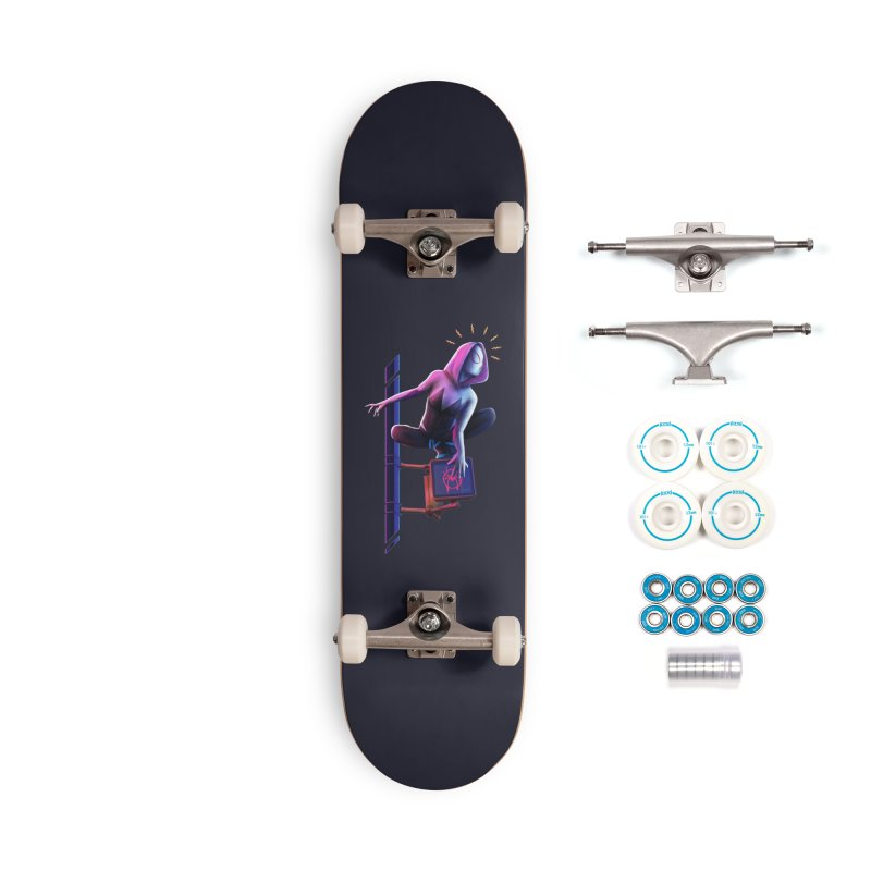 Gwen into the Spider-Verse Accessories Complete - Basic Skateboard by Laurie's Artist Shop