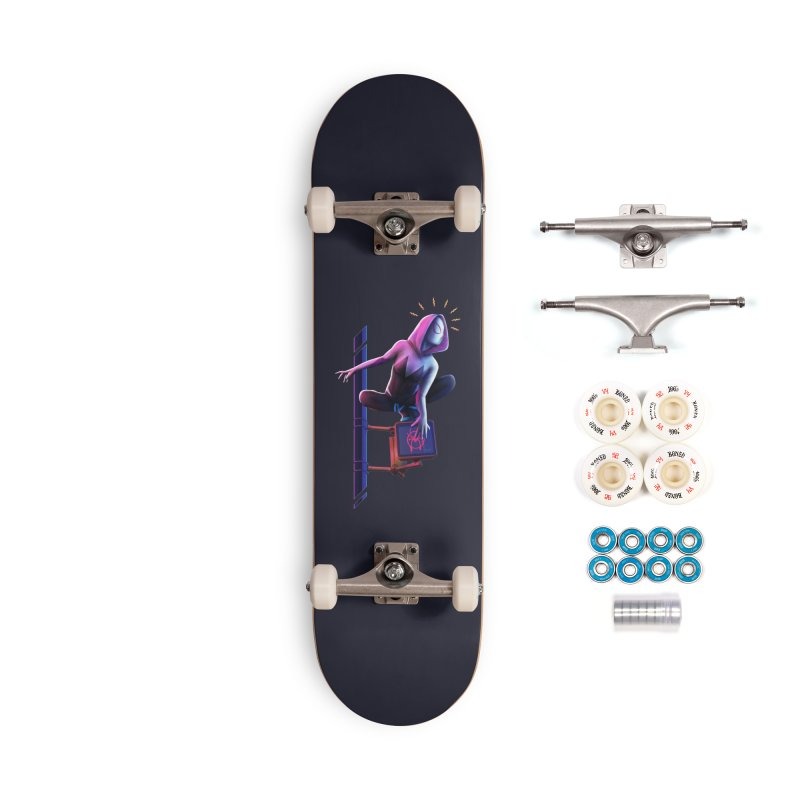 Gwen into the Spider-Verse Accessories Complete - Premium Skateboard by Laurie's Artist Shop