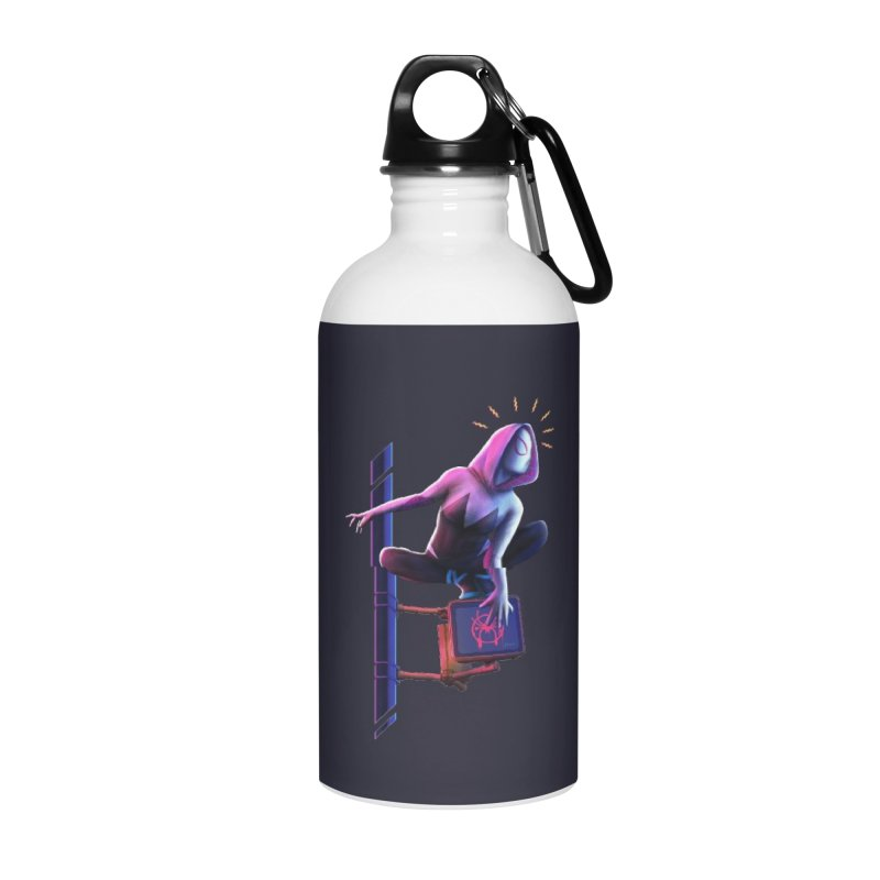 Gwen into the Spider-Verse Accessories Water Bottle by Laurie's Artist Shop
