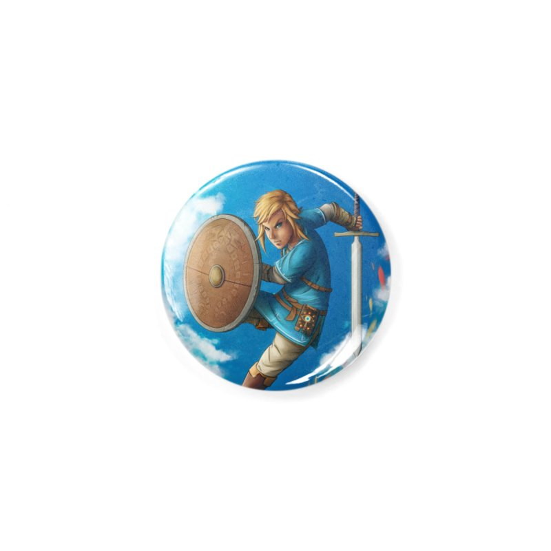 Link - Breath of the Wind Accessories Button by Laurie's Artist Shop