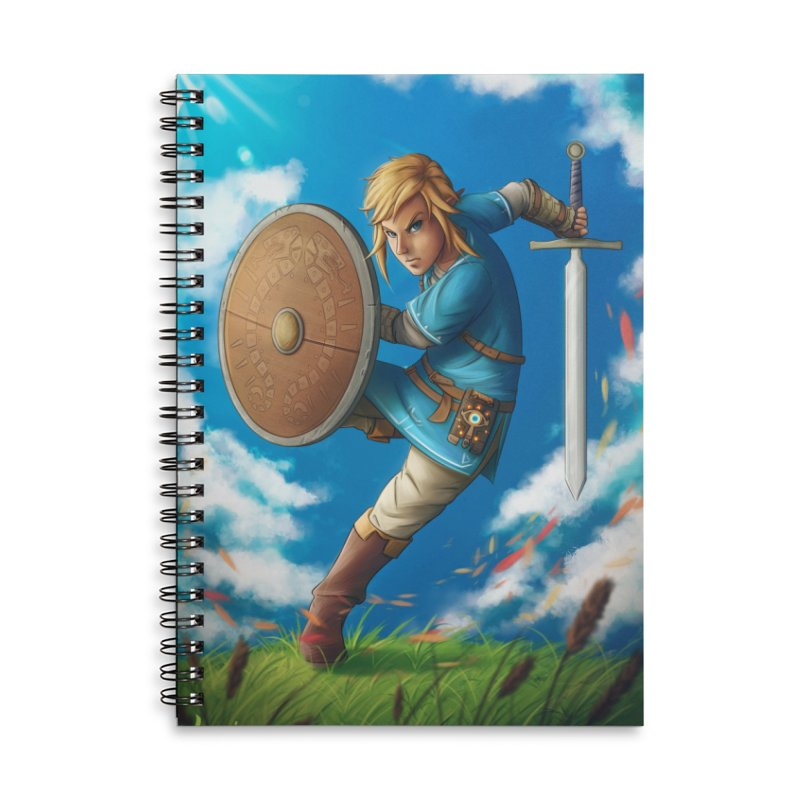 Link - Breath of the Wind Accessories Lined Spiral Notebook by Laurie's Artist Shop
