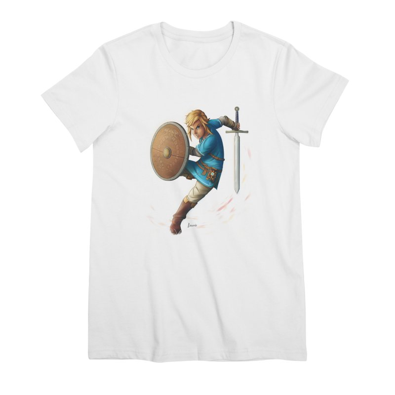 Link - Breath of the Wind Women's Premium T-Shirt by Laurie's Artist Shop