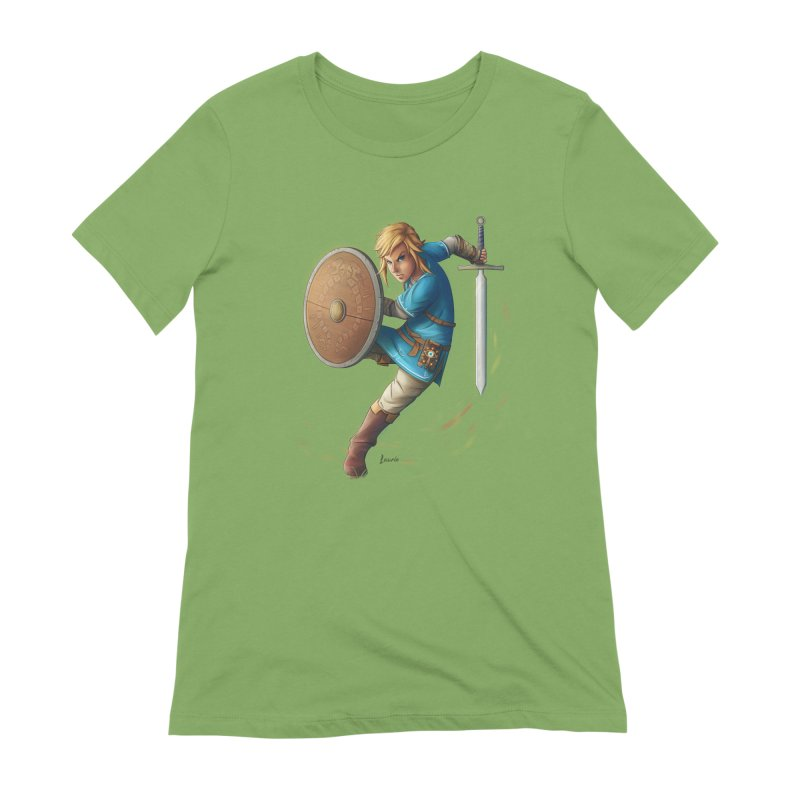 Link - Breath of the Wind Women's Extra Soft T-Shirt by Laurie's Artist Shop