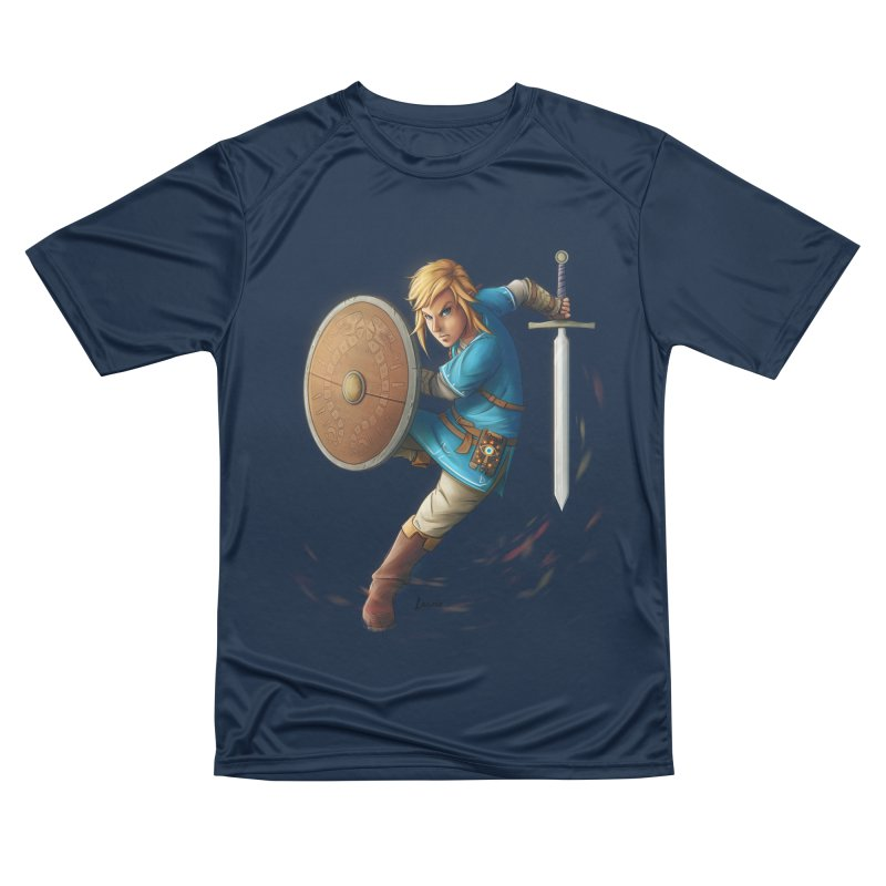 Link - Breath of the Wind Men's Performance T-Shirt by Laurie's Artist Shop