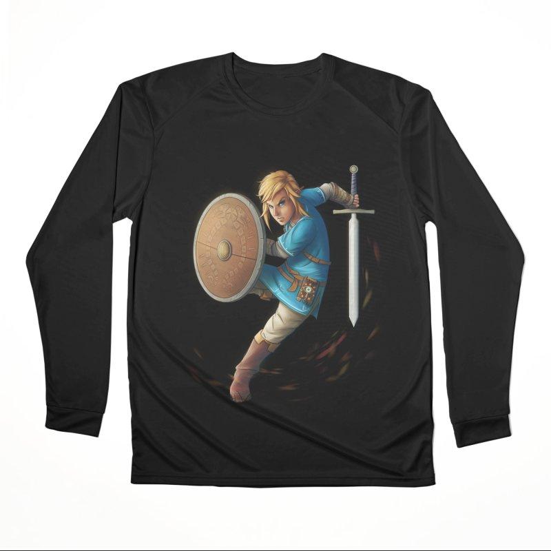Link - Breath of the Wind Women's Performance Unisex Longsleeve T-Shirt by Laurie's Artist Shop