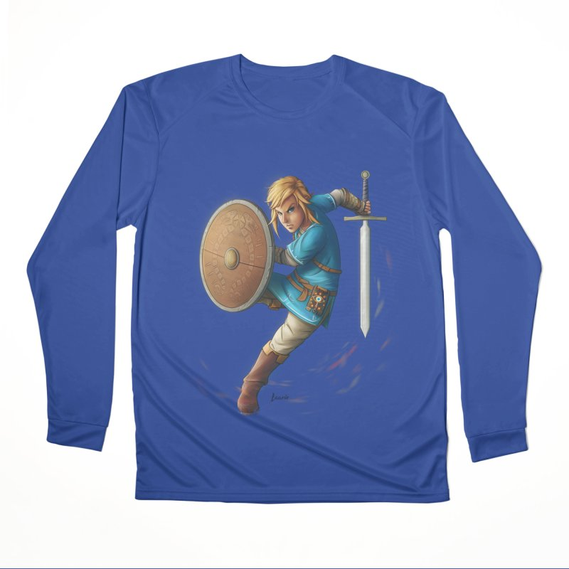 Link - Breath of the Wind Women's Performance Unisex Longsleeve T-Shirt by Laurie's Artist Shop