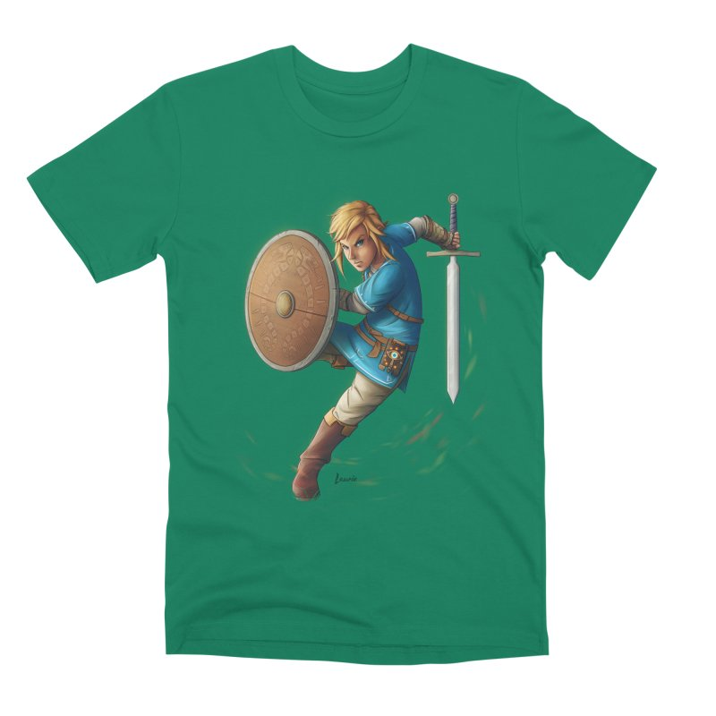 Link - Breath of the Wind Men's Premium T-Shirt by Laurie's Artist Shop