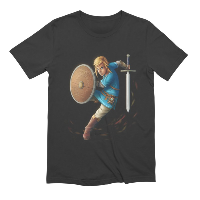 Link - Breath of the Wind Men's Extra Soft T-Shirt by Laurie's Artist Shop