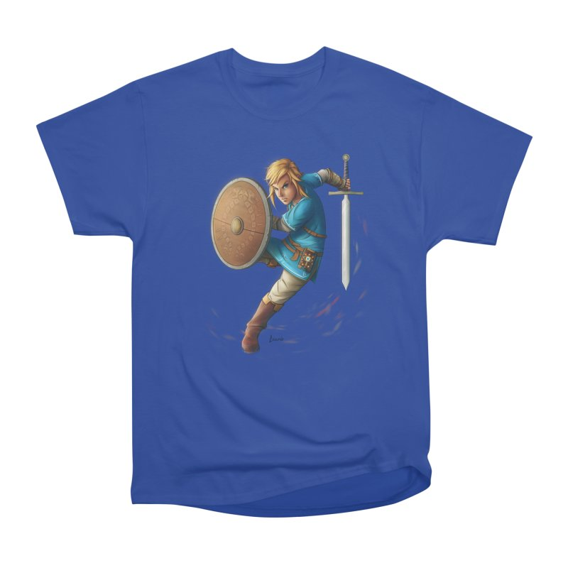 Link - Breath of the Wind Men's T-Shirt by Laurie's Artist Shop
