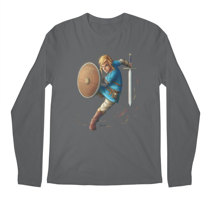 Link - Breath of the Wind Men's Longsleeve T-Shirt by Laurie's Artist Shop