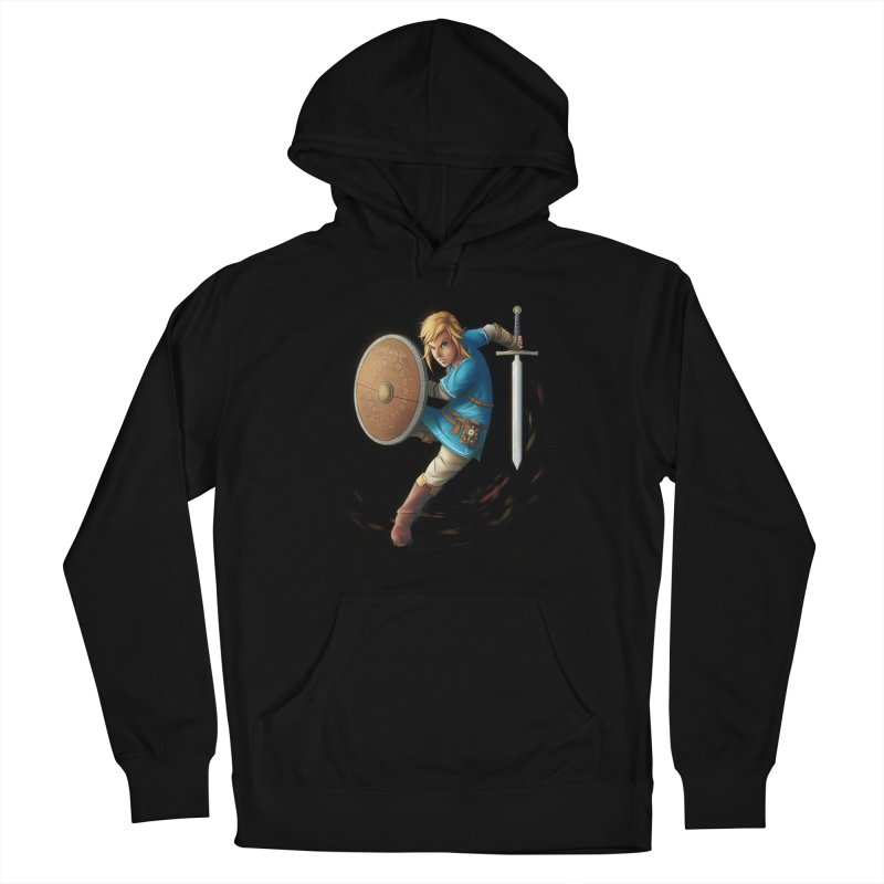 Link - Breath of the Wind Women's French Terry Pullover Hoody by Laurie's Artist Shop