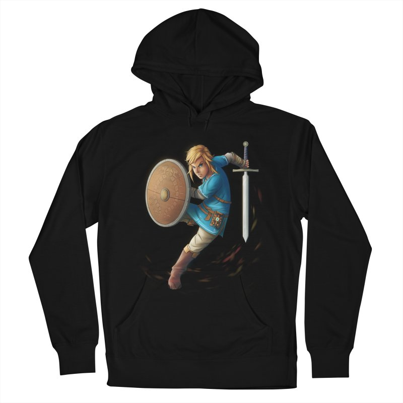 Link - Breath of the Wind Women's Pullover Hoody by Laurie's Artist Shop