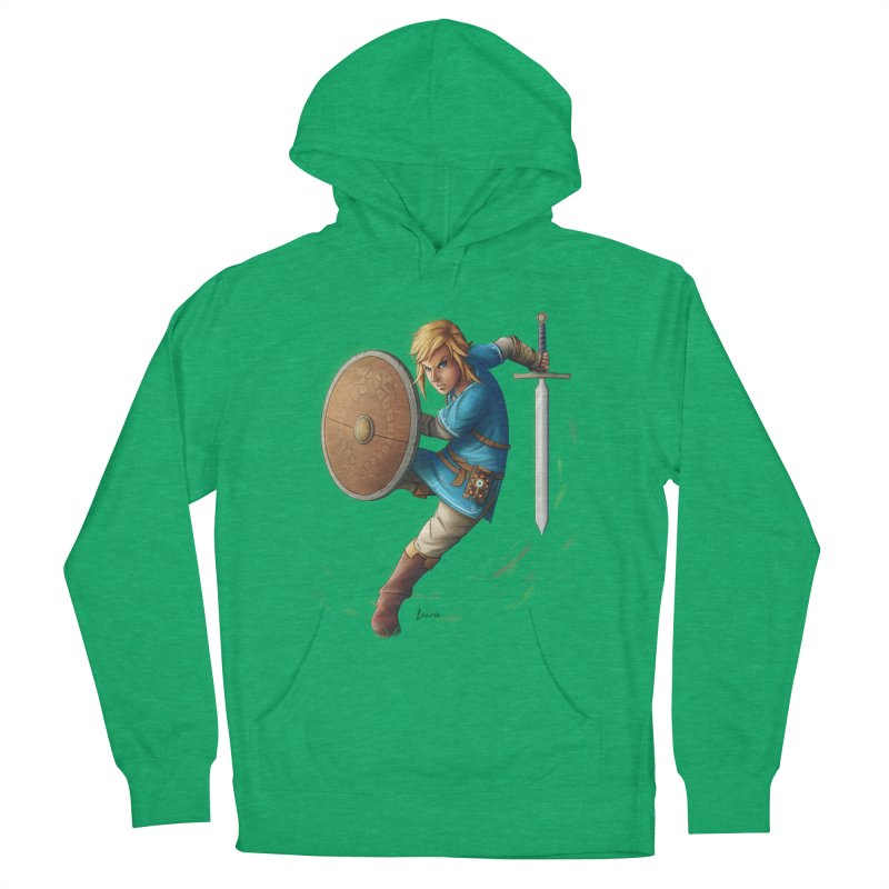 Link - Breath of the Wind Men's French Terry Pullover Hoody by Laurie's Artist Shop