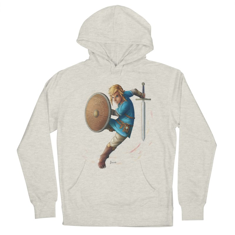 Link - Breath of the Wind Men's Pullover Hoody by Laurie's Artist Shop
