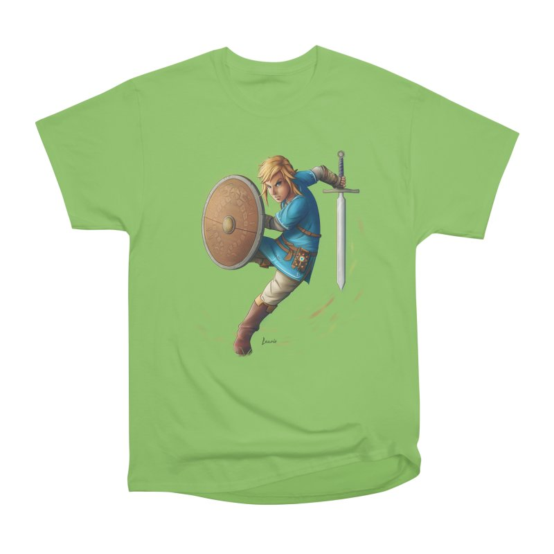 Link - Breath of the Wind Women's Heavyweight Unisex T-Shirt by Laurie's Artist Shop