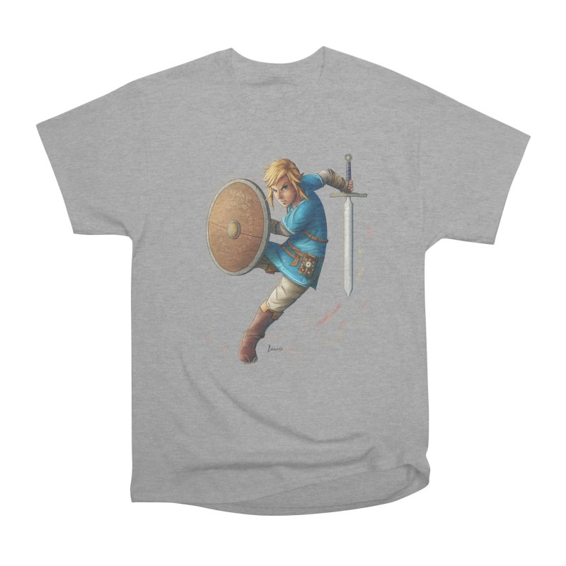 Link - Breath of the Wind Men's Heavyweight T-Shirt by Laurie's Artist Shop